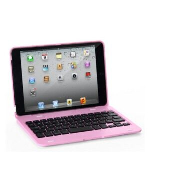 Ultra-thin Smart Sleep Bluetooth Keyboard With Protective Case for iPad Mini4 Siamese-style(Pink)(INTL)