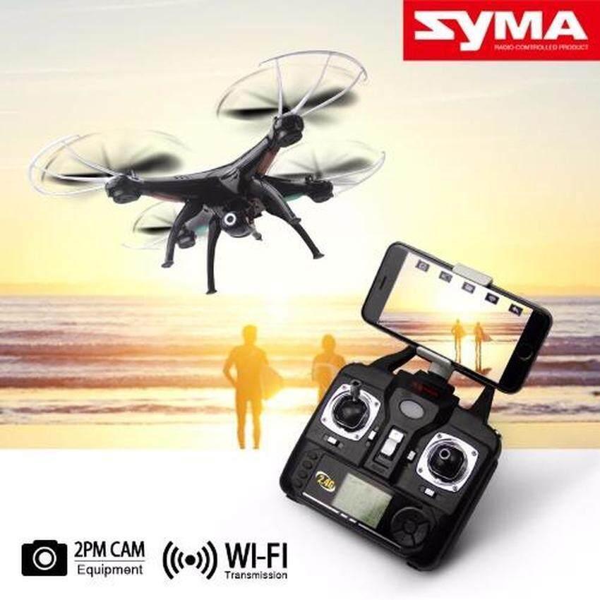 Uni โดรนบังคับพร้อมกล้อง โดรนDroneบังคับSyma X5SW Quadcopterสีดำ