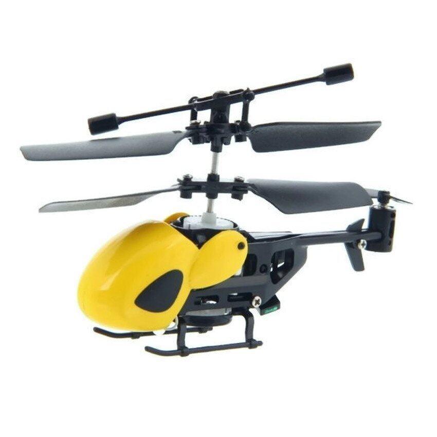 ขาย Uni โดรนบังคับ เครื่องบินบังคับMini Helicopter 3.5 CH Built-in Gyro (สีเหลือง)