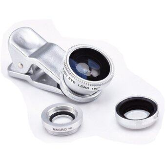 Universal Mobile Phone Lenses 3 in 1 Wide Angle Macro Fish Eye Lens For iPhone 5S 6 Samsung S5 S6 - Intl