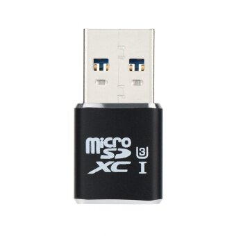 USB 3.0 Mini Card Reader/MICRO SD/SDXC Aluminum TF Card Reader BK -intl