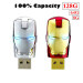 Usb Flash Drive 64GB Iron Face Pen Drive Marvel Cartoon Iron Man Pendrive U Disk (Silver) -Intl