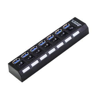 USB HUB Hi-Speed 480Mbps 7 Ports USB 3.0 Hub Support 1TB HDD(Black) - intl