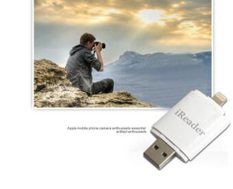 USB i-Flash iDisk TF Micro SD Memory Card Reader 8pin for iPhone 5 5S 6 6S iPad Air