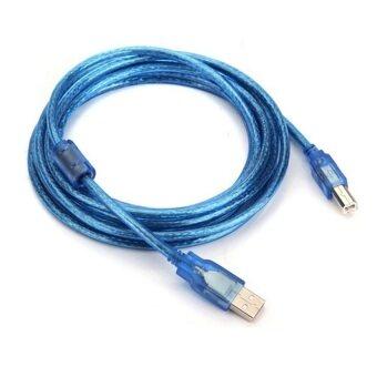 สาย USB TO Printer USB 2.0 ยาว 10 M (สีฟ้า)