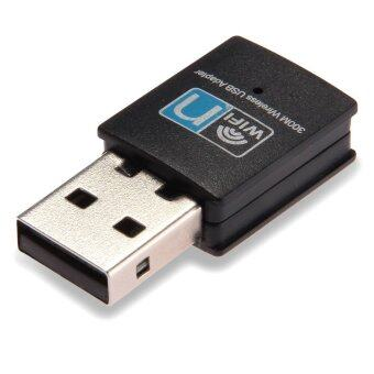 USB WiFi Wireless LAN Network Adaptor 802.11 n/g/b 300 Mbps Mini Black