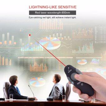 USB Wireless Presenter Red Laser Pointer Remote Control for PowerPoint Presentation LPP06 - intl