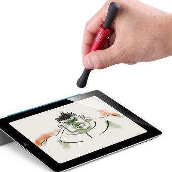 Veari ปากกา stylus สำหรับอุปกรณ์ Touch Screen ขนาดเล็ก หัวเป็นยางและมี 2 ด้าน สี Coral Red