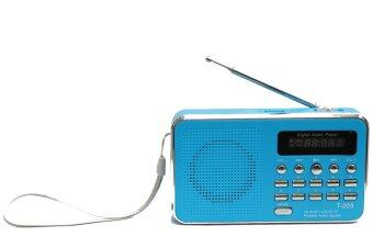 Vgo IT ลำโพงวิทยุ ลำโพง Mp3 รุ่นT-205 (สีฟ้า)