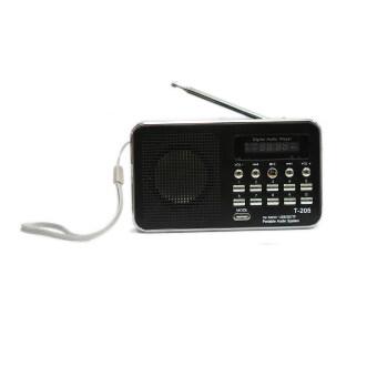 Vgo IT ลำโพงวิทยุ ลำโพง Mp3 รุ่นT-205 (สีดำ)