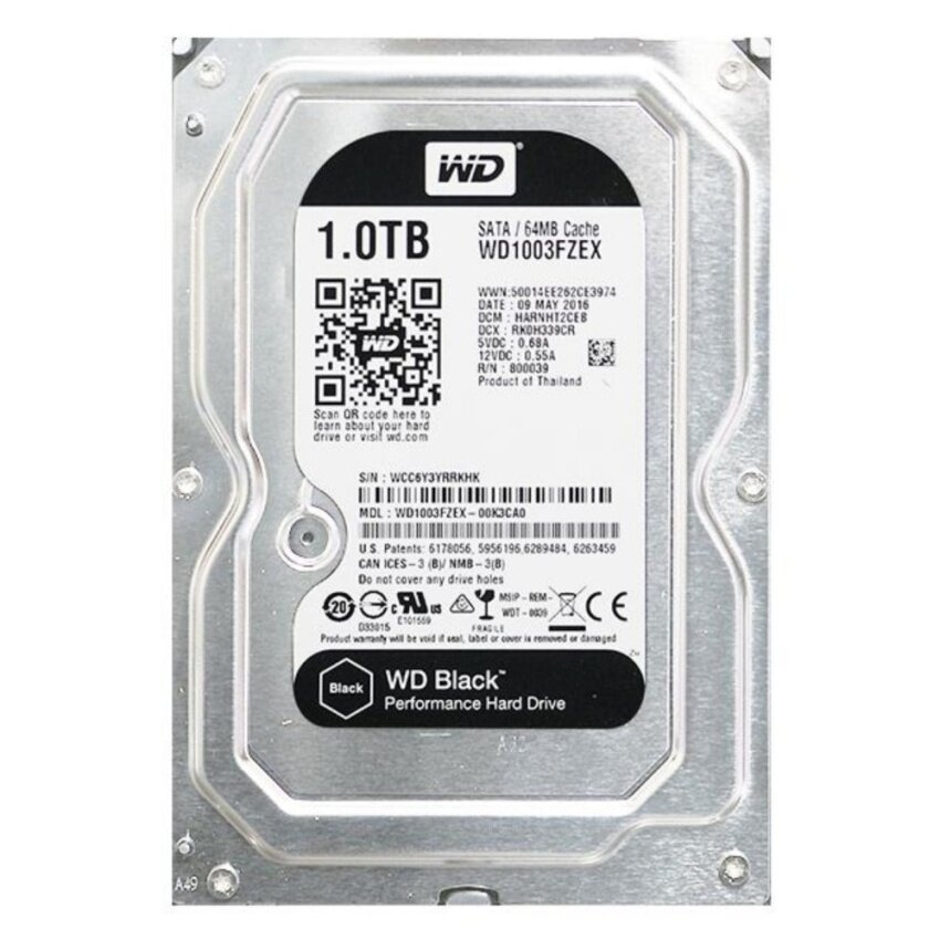 WD HDD 1000/7200 SATA III 64MB Black 5Y