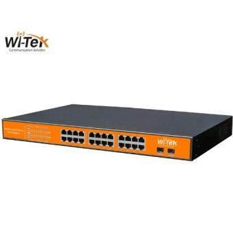 Wi-Tek 24GE+2SFP 48V Ports PoE Switch with 24-Port PoE WI-PS326GF(...)