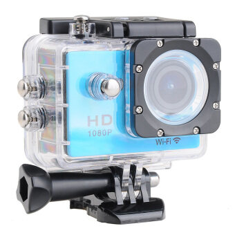 Wifi Action Digital Camera 12Mp Full Hd 1080P 30Fps 2.0InchLcdDiving 30M Waterproof Sport Dv (Blue) - intl