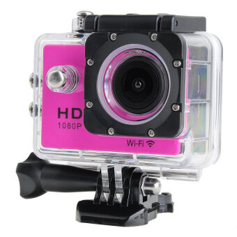 Wifi Action Digital Camera 12Mp Full Hd 1080P 30Fps 2.0InchLcdDiving 30M Waterproof Sport Dv (Pink) - intl