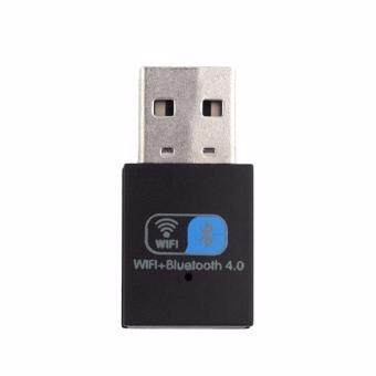 Wifi + BT USB 4.0 150Mbps Wireless Bluetooth Adapter Bluetooth + Wifi Dongle for MAC(Black) - intl