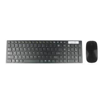 คีย์บอร์ด Wireless Keyboard + เมาส์ อุปกรณ์เสริมคอมพิวเตอร์