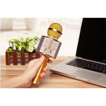 ราคา ไมโครโฟนพร้อมลำโพงในตัว บลูทูธไร้สาย Wireless Microphone HIFI Speaker WS-858