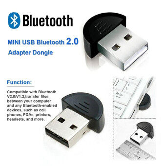 Wireless USB 2.0 Bluetooth Adapter Dongle V2.0 EDR for PC Laptop Computer Desktop (Intl)