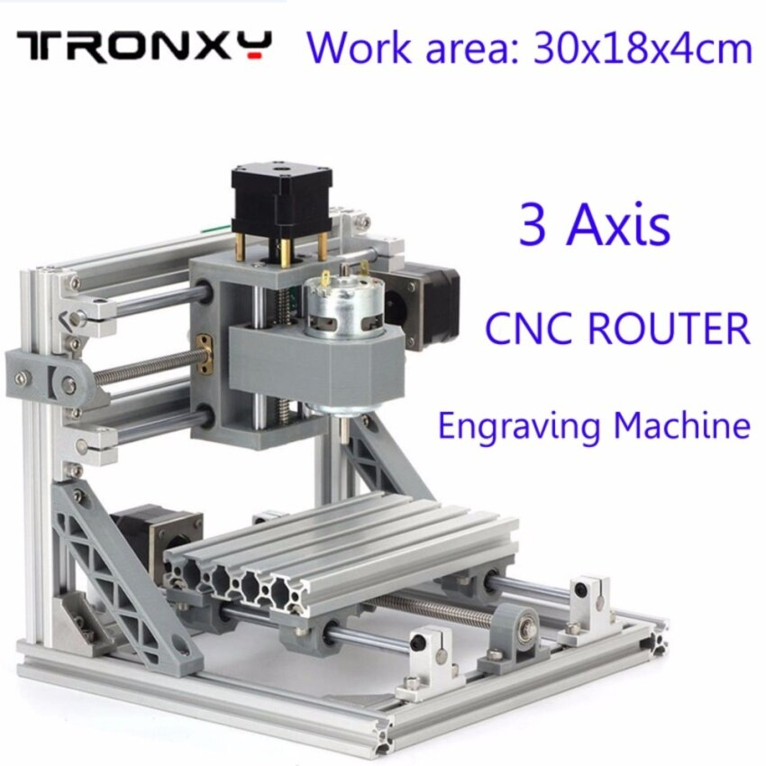 Work area 30x18x4cm 3-Axis Mini CNC Router Engraver PCB PVC Milling Wood Carving Machine DIY Set Kit - intl