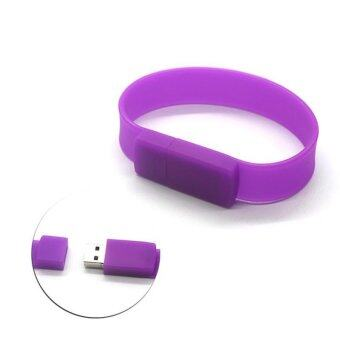 Wrist Bracelet USB Flash Drive 16GB USB 2.0 pen drive_purple