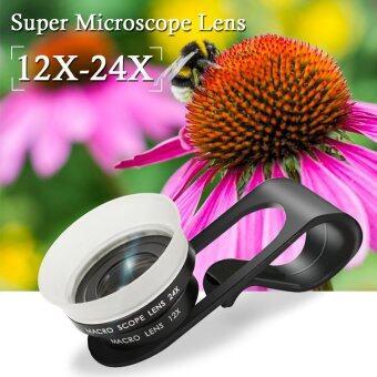 XCSource โทรศัพท์มือถือมือถือ 12 x-24X ไมโครเลนส์ของกล้องจุลทรรศน์สำหรับ iphone 5S 6 Plus
