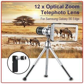 XCSource เลนส์ติดโทรศัพท์ 12X Zoom Aluminum Telephoto Lens+Case สำหรับ Samsung Galaxy S6 G9200