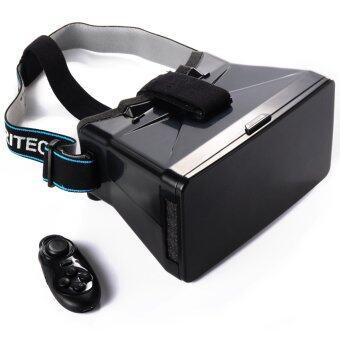 XCSource กล่องแว่นตา 3D VR Box + Controller สำหรับ Samsung S4 S5 S6 Edge (สีดำ)