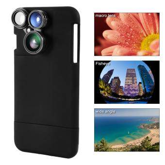 XCSOURCE 4in1 Fisheye Wide Angle Macro CPL Camera Lens Black Case for iPhone7 Plus DC751 - intl