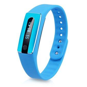 YOCHO New Smart Heart Rate Rate IP67 Waterproof Bluetooth 4.0 Watch Wristband Fitness Tracker For samsung Android Apple Iphone(Blue) - Intl