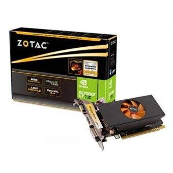 ZOTAC GeForce GT 730 4GB DDR5 64-bit PCI Express 2.0 HDMI DVI VGA Fan Cooled Low Profile Video Graphics Card (ZT-71118-10L) - intl