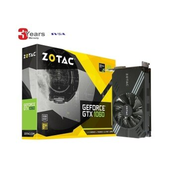 ZOTAC GeForce GTX 1060 Mini ZT-P10600A-10L 6GB GDDR5 Super Compact VR Ready Gaming Graphics Card -3 YEARS (BY SVOA)