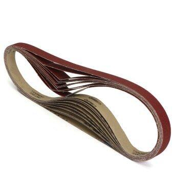 "10 Pack 1"" x 42"" Sanding Belts, 80 Grit, Al Oxide 1070 x 25mm - Intl"