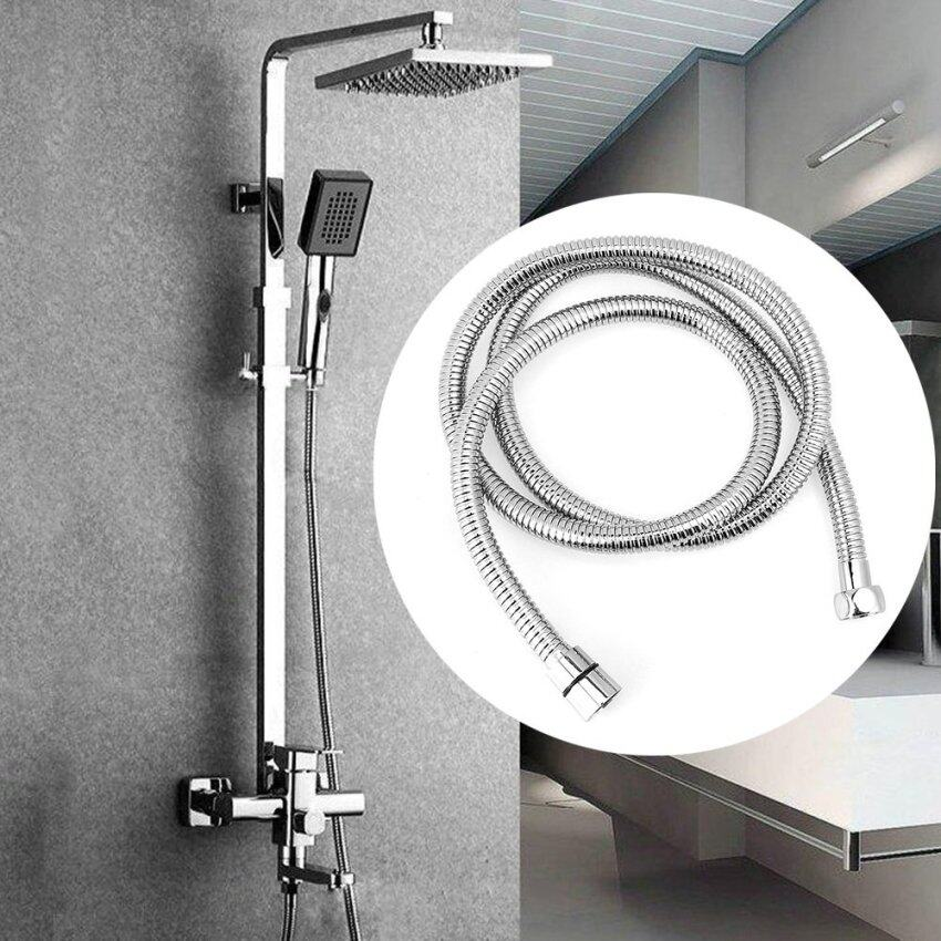 1.5m Flexible Stainless Steel Chrome Standard Shower Head Bathroom Hose Pipe ...