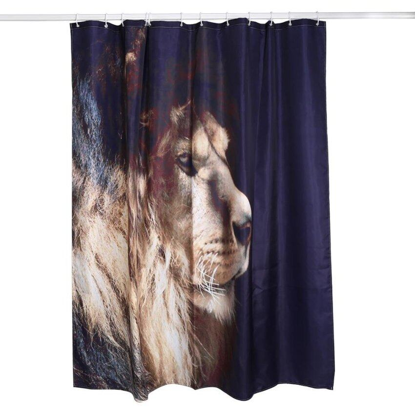 180cm x 180cm 3D Printing Thickening Waterproof Polyester Shower Curtain 1# The Lion King -