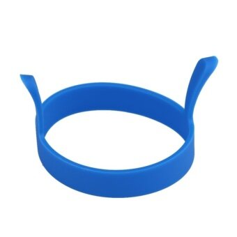 2 Pack 1pc Round Silicone Fried Egg Tool Pancake Mould Ring Poacher (Blue) - intl