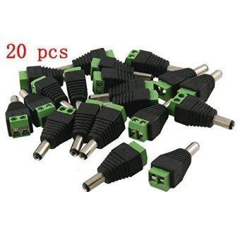 20 Pcs Dc Power Male Connector Plug 2.1 X 5.5mm Cctv Power Jack Adapter
