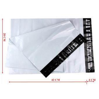 ซองไปรษณีย์พลาสติกสีขาว ขนาด 28x42 cm (100 ใบ)