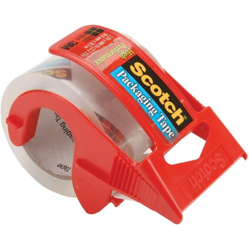 3M Commercial Office Supply Div. MMM142 Packing Tape- w- Dispenser- 2in.x22.2 Yds- 1-.50 ...