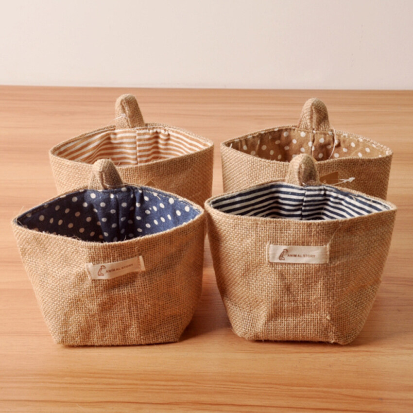 4 Pcs.Tidy bag.1 Pockets Storage Tidy Over Door Wall Hanger Box Holder Hanging Organizer ...