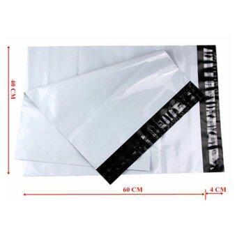 ซองไปรษณีย์พลาสติกสีขาว ขนาด 40x60 cm (100 ใบ)