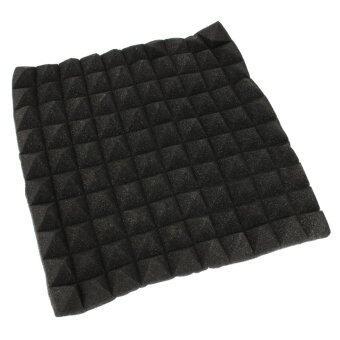 4pcs 45x45cmx5.5cm Acoustic Soundproof Sound Stop Absorption Pyramid Studio Foam black