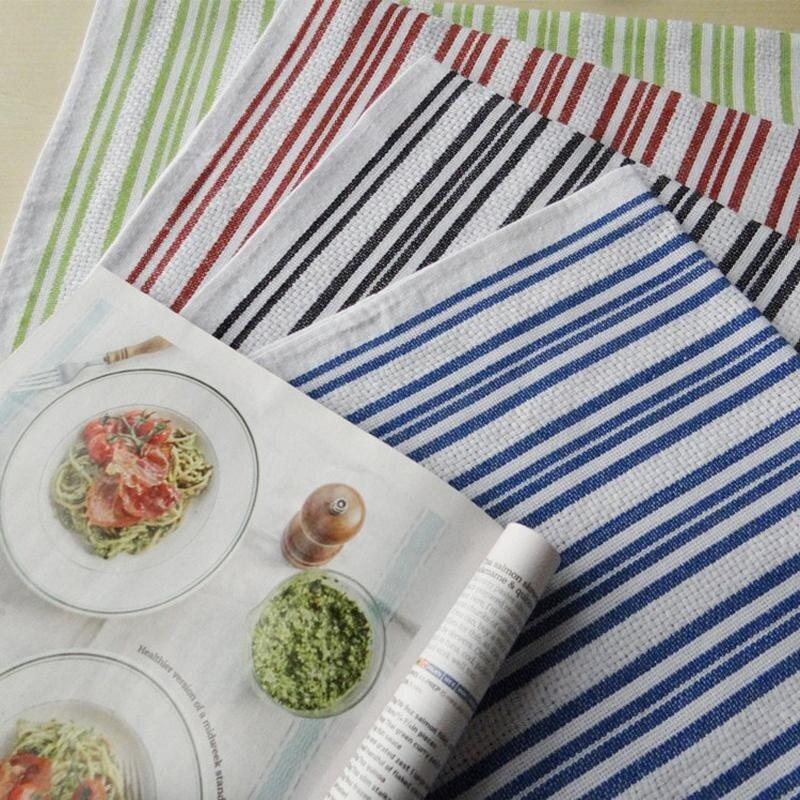 4pcs/lot Cotton Table Cloth Napkins Placemats Super-Absorbent Tea Towel Napkins Dining Table Mat Washable Children Table Napkin Placemats Food Background 42x66CM - intl