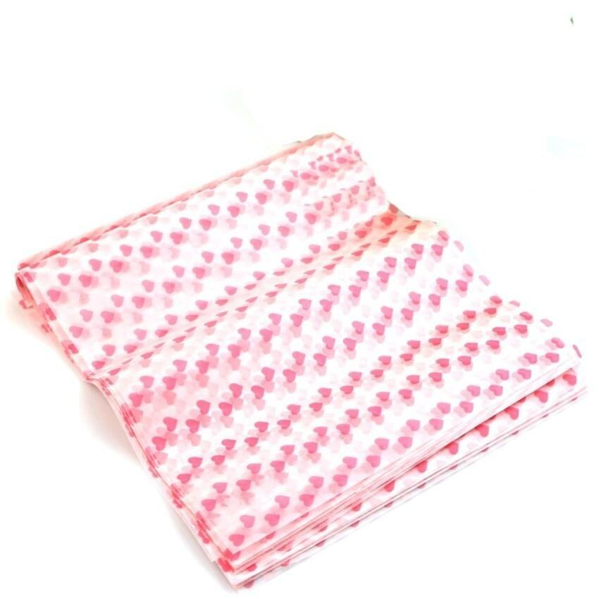 50 Pcs Wrapping Waxed Paper Waterproof Greaseproof For Candy Pastrygift New (Heart) - in ...
