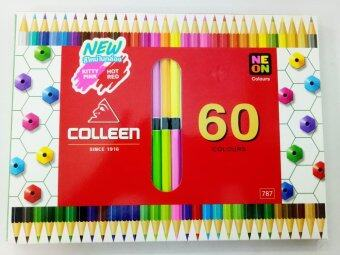 สีไม้คอลลีน 60 สี สองหัว