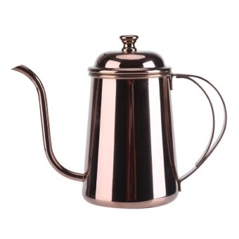 650ML Stainless Steel Gooseneck Spout Kettle Pour Over Coffee TeaHome Brew Drip Pot Rose Gold - intl
