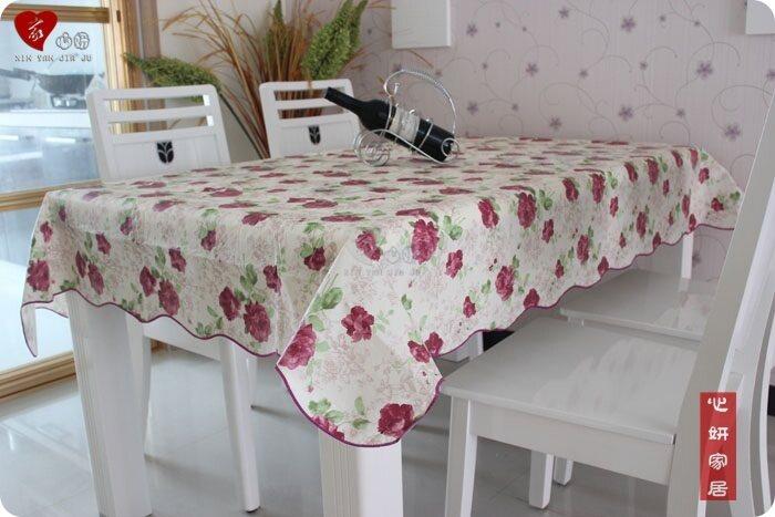 Aixinyan กันน้ำป้องกันน้ำมันพีวีซีพลาสติกใสโต๊ะกาแฟผ้าปูโต๊ะ