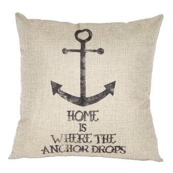 Anchor Throw Pillow Cove (Brown)