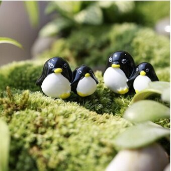 Arctic Penguin Mini Fairy Garden Micro Dollhouse Pot Bonsai Terrarium DIY Craft - intl