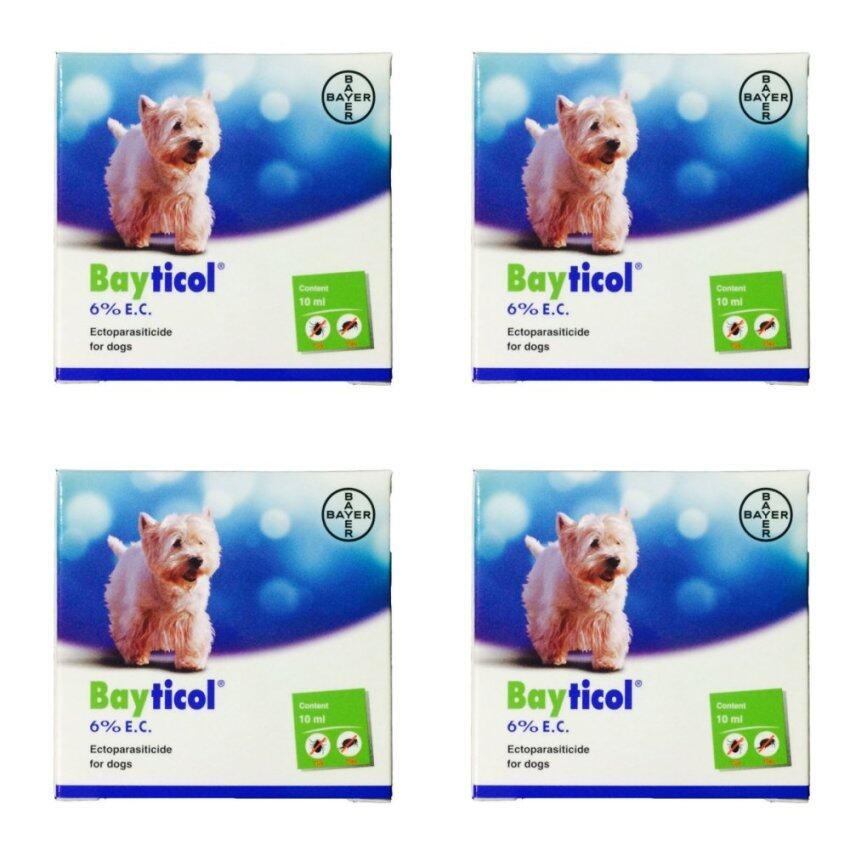 Baytical 6% E.C. ไบติคอล 6% อี.ซี. ควบคุมและกำจัดตัวเบียนภายนอกของสุนัข 10 cc จำนวน 4 Bottles ( 8850172400076-4)