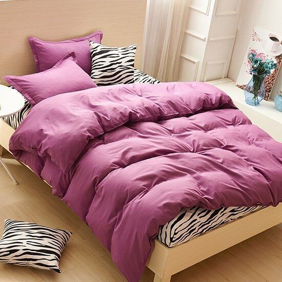 Bedding Cheap ผ้าปูที่นอน ชุดผ้านวม 6 ฟุต 6 ชิ้น ลายม้าลาย 003